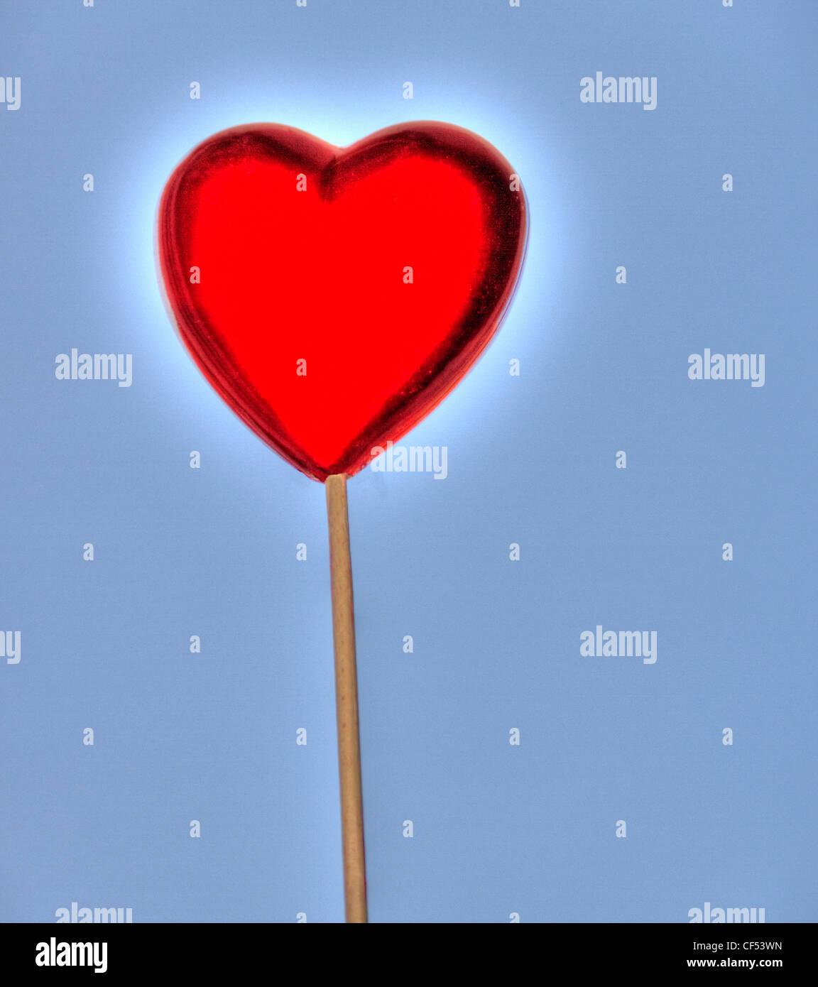 Mein Herz für dich Stockbild