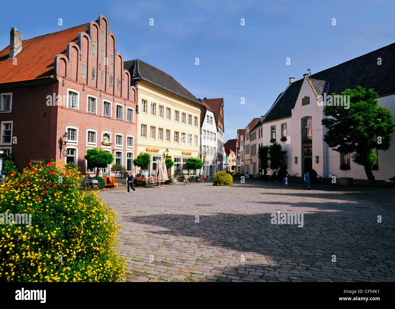 der alte markt platz warendorf deutschland stockfoto bild 43754005 alamy. Black Bedroom Furniture Sets. Home Design Ideas