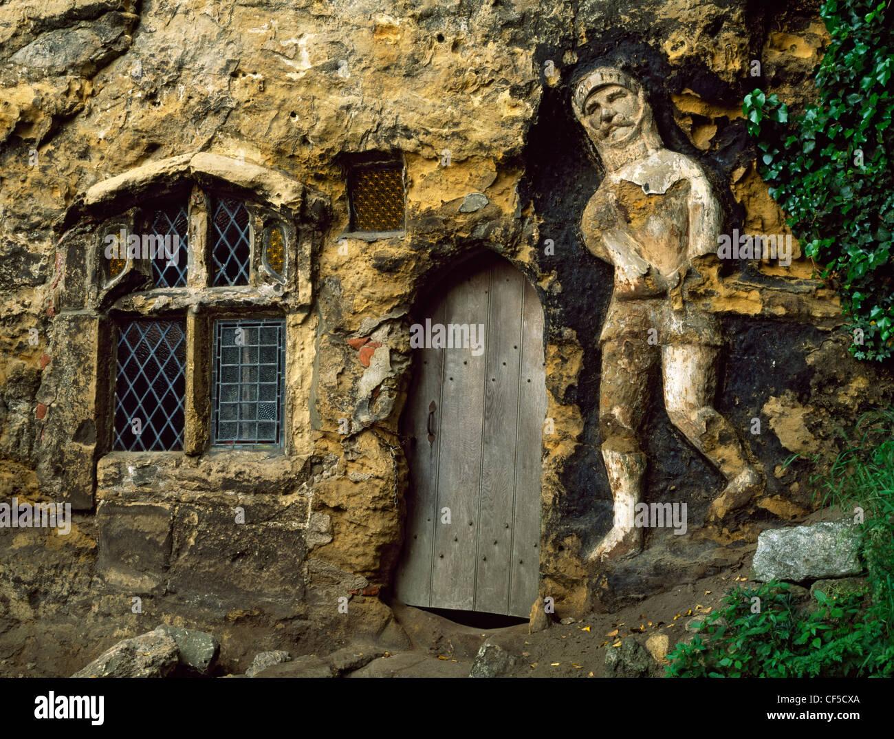 Bildstock Kapelle der Muttergottes von der Felswand wurde 1408 von John Mason gegründet. Die Tür zur Höhle Stockbild