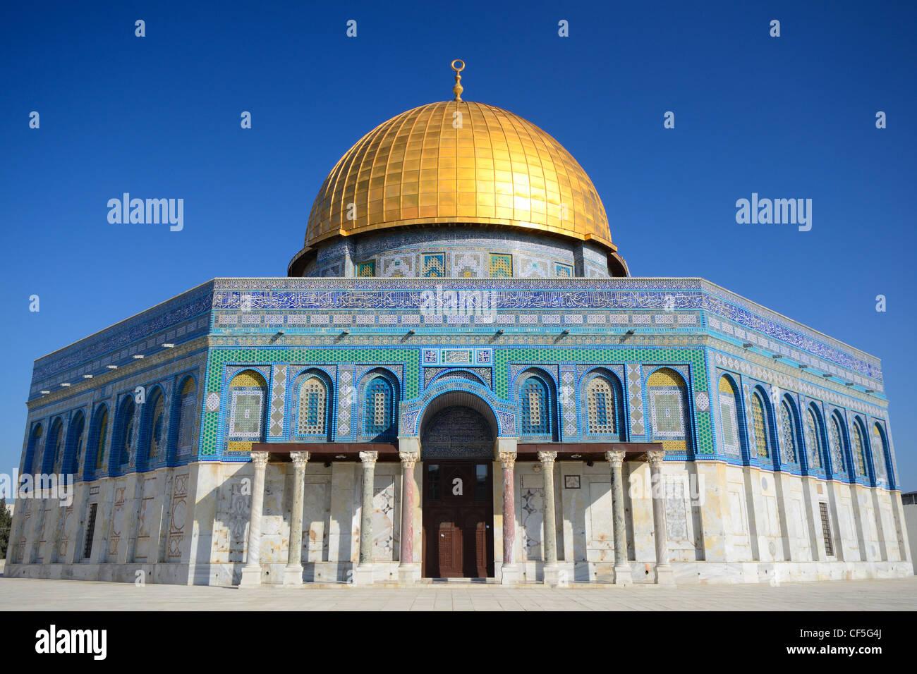 Haube des Felsens in Jerusalem, Israel. Stockbild