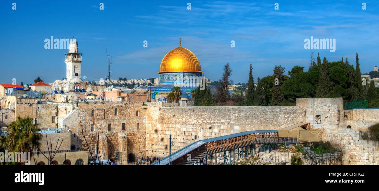 Jerusalem, Israel panorama stadtbild der Altstadt. Stockbild