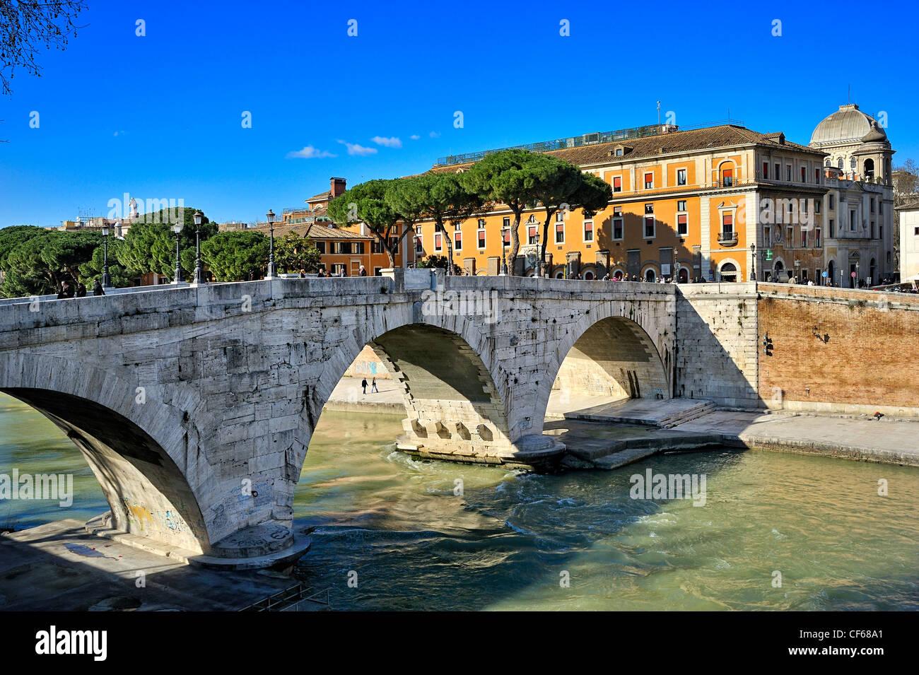 Cestio Brücke, Rom, Italien. Stockbild