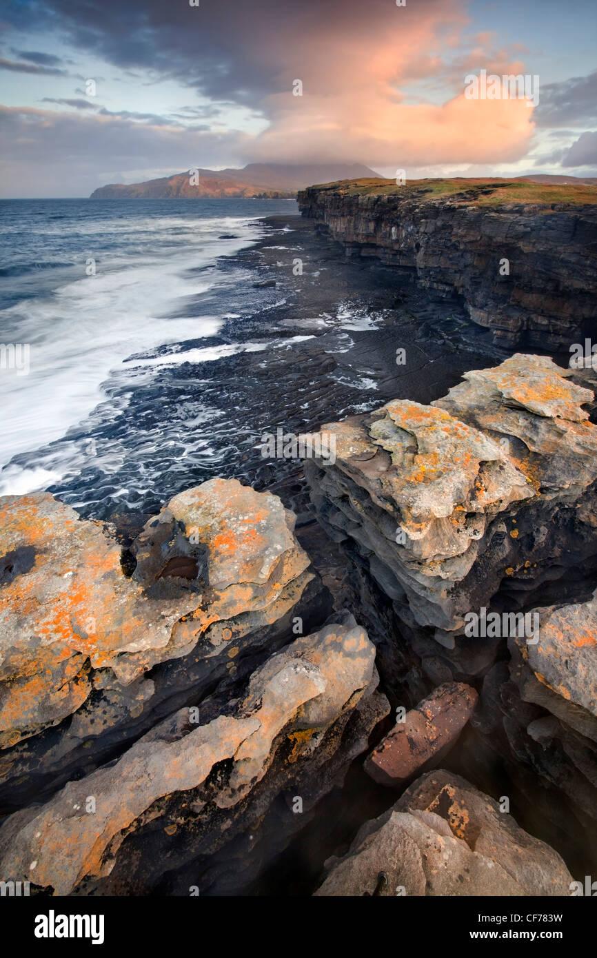 Muckross Head ist eine kleine Halbinsel etwa 10 km westlich von Killybegs, Stockbild