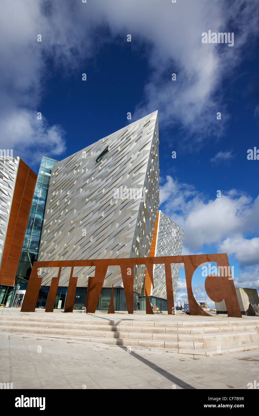 Titanic Signature building Museum titanic Viertel Belfast Nordirland Stockbild