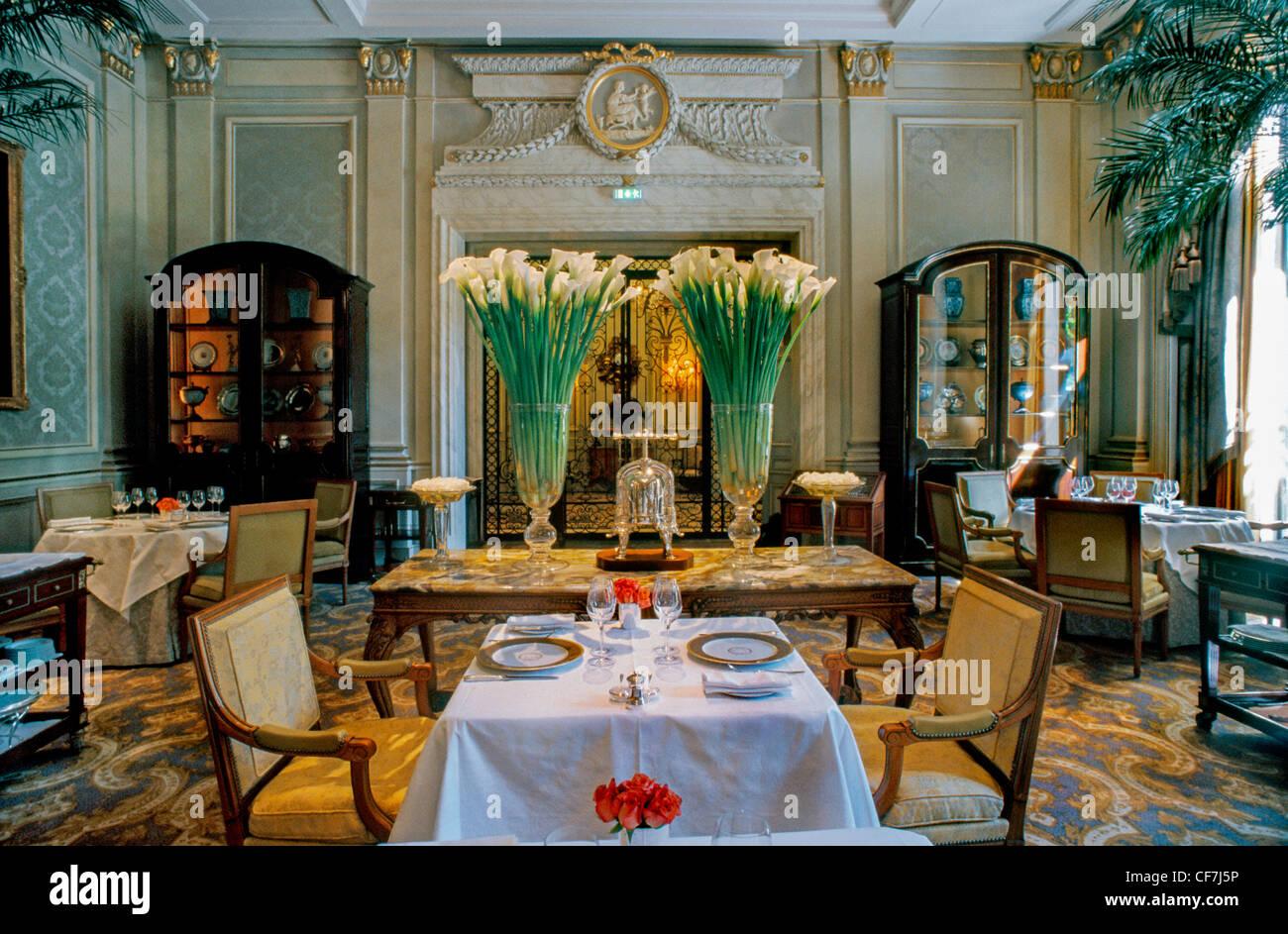 Frankreich, Paris, Fancy französisches Restaurant Le V (Le Cinq ...