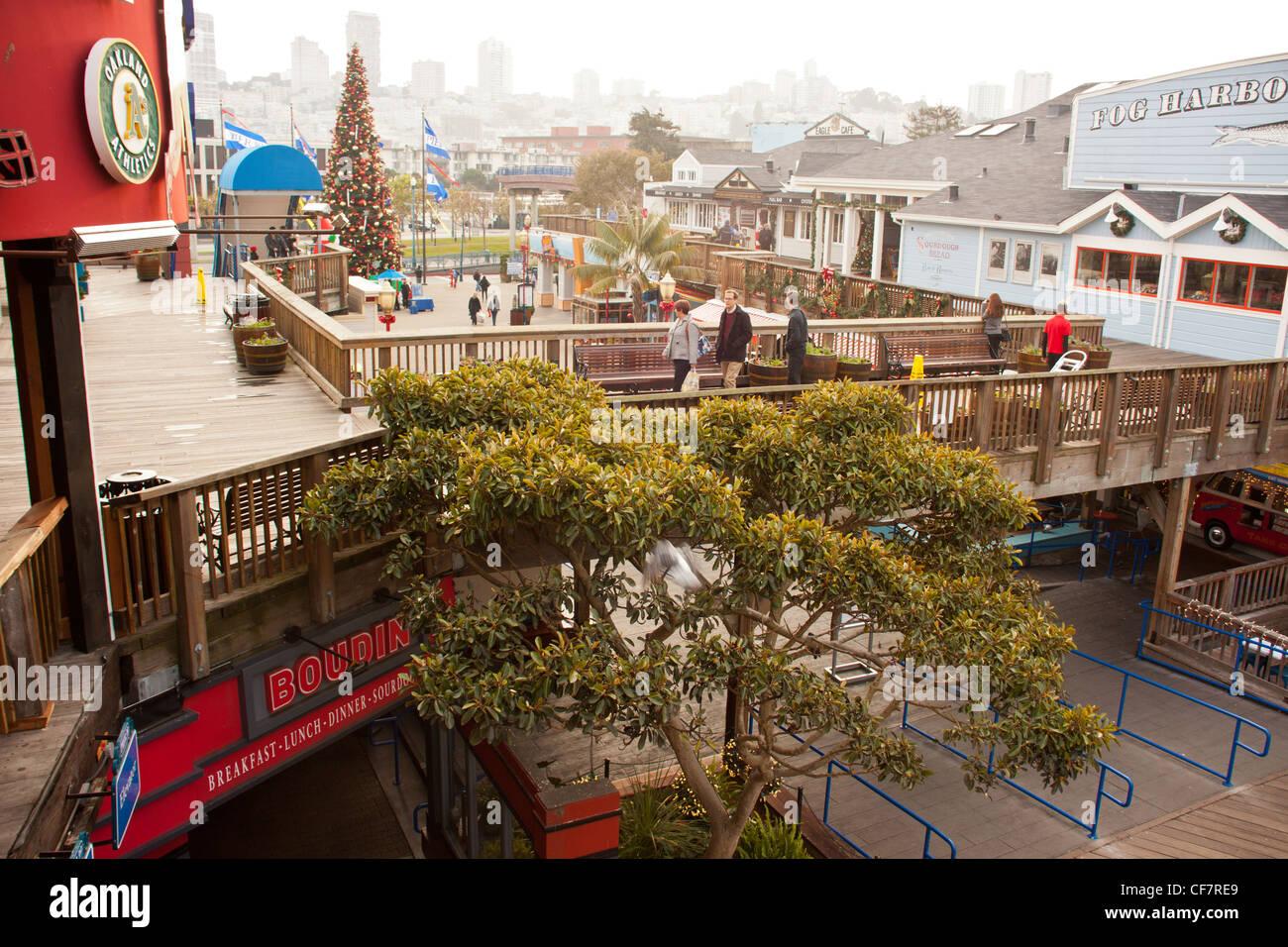 Weihnachten am Pier 39 Fishermans wharf-San Francisco Stockfoto ...