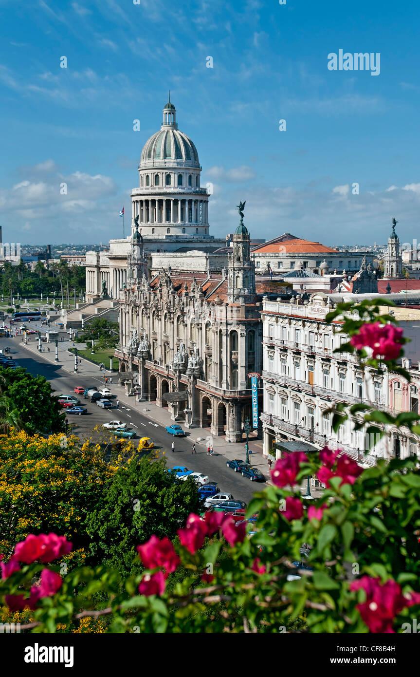 Kapital Gebäude Großtheater Havanna Kuba Stockbild