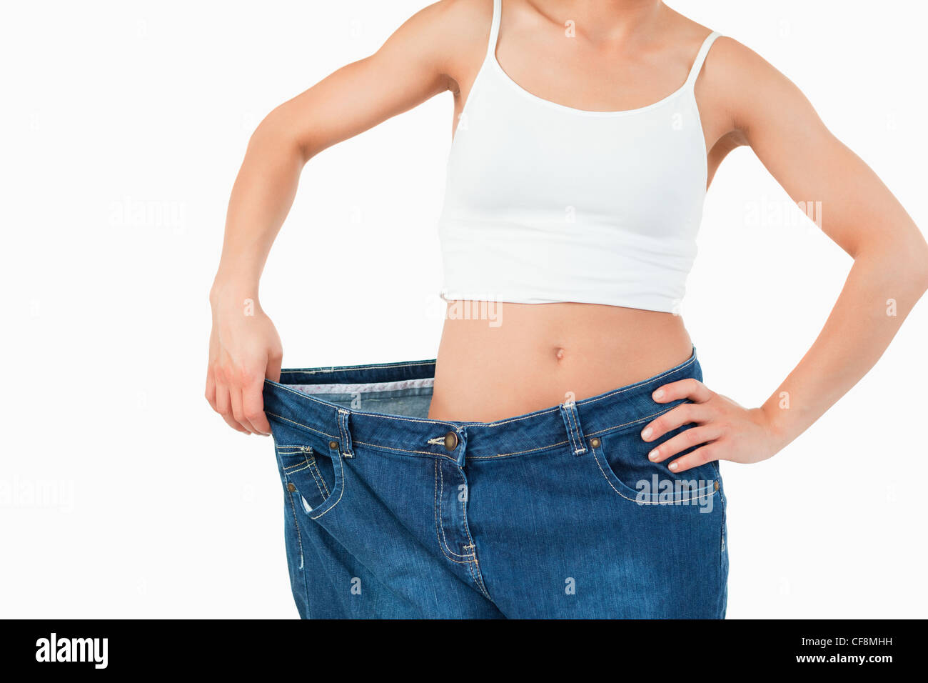c409b0481ffc Dünne Weiße Jeans Stockfotos   Dünne Weiße Jeans Bilder - Alamy