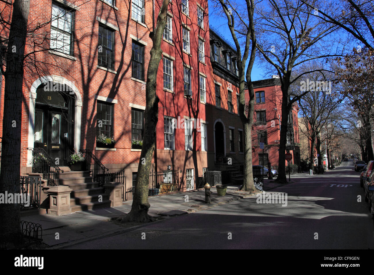 old new york brownstone stockfotos old new york brownstone bilder alamy. Black Bedroom Furniture Sets. Home Design Ideas