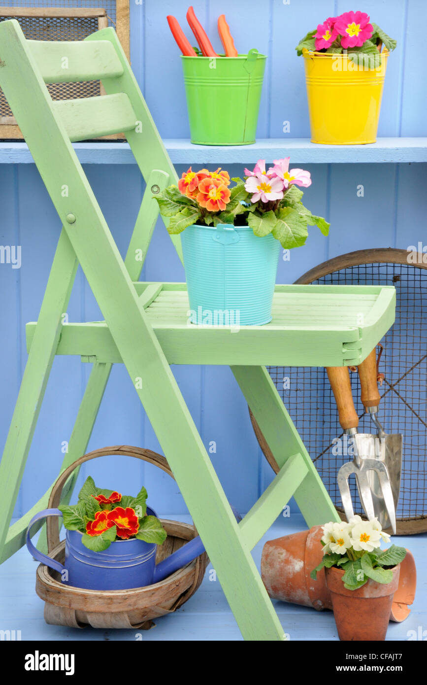 Painted Chair Stockfotos & Painted Chair Bilder - Alamy