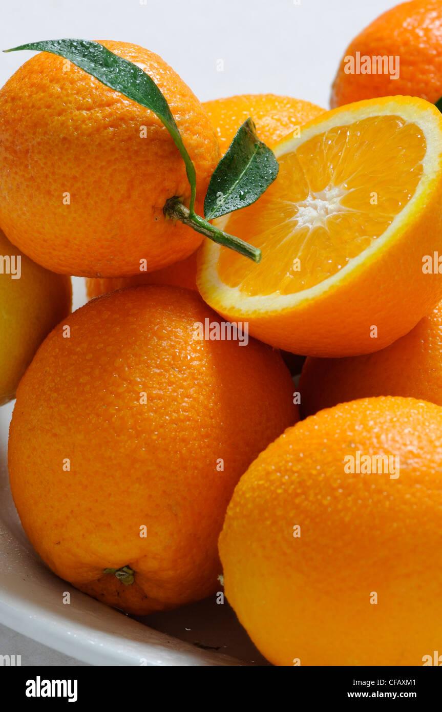 Vitamine, Vitamin C, Orangen, Obst Zitrusfrüchte, Speisen, Essen, Stockbild