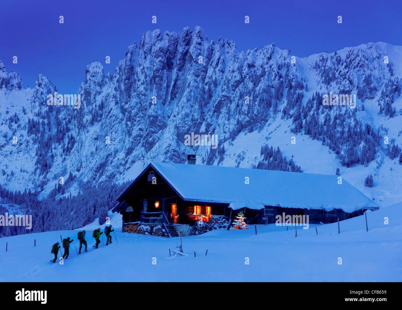 Alpen, Berg, Berge, Nacht, dunkel, Sport, freie Zeit, Freizeit ...