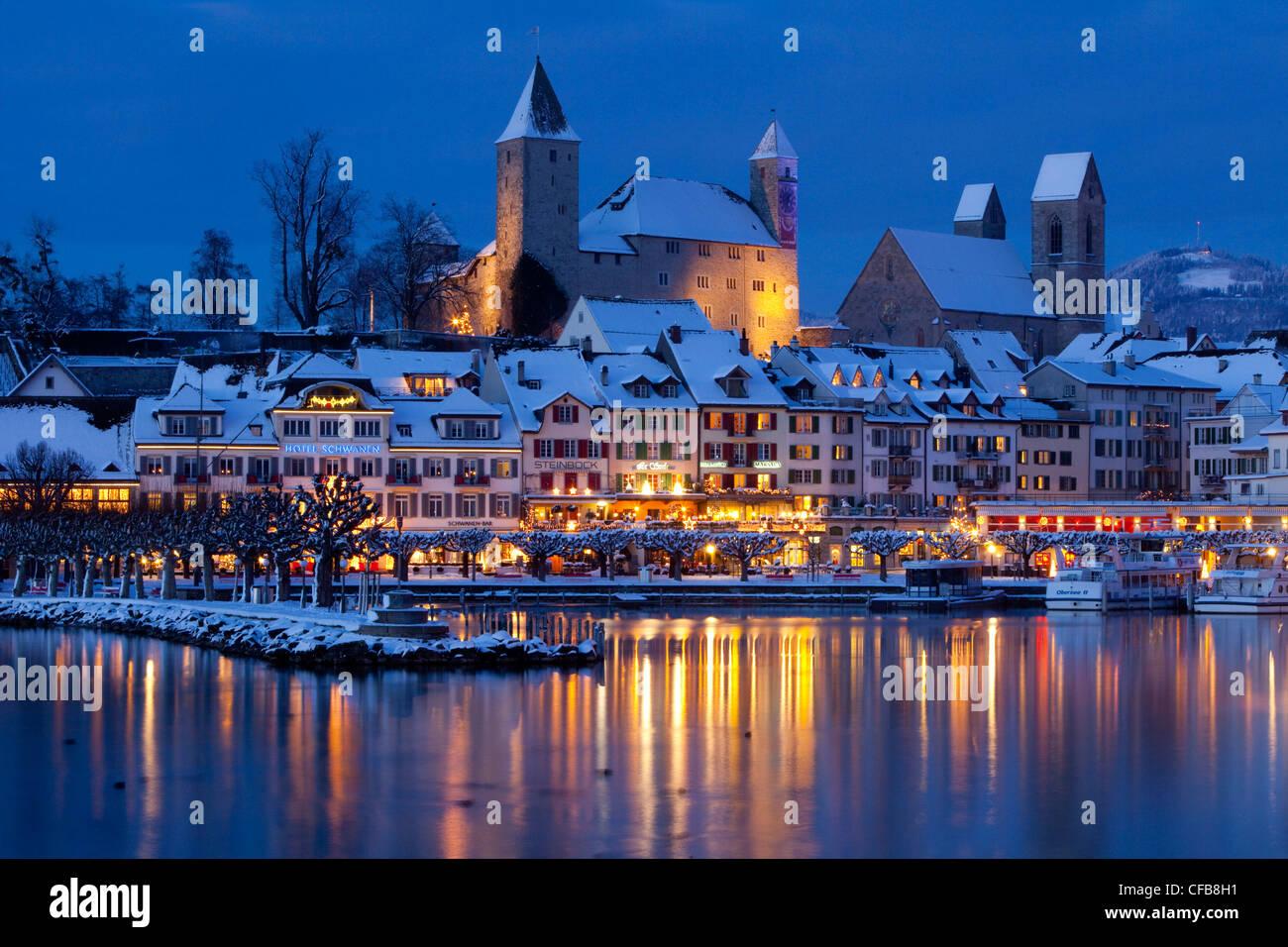 Nacht, dunkel, See, Weihnachten, Advent, Kanton St. Gallen, St ...