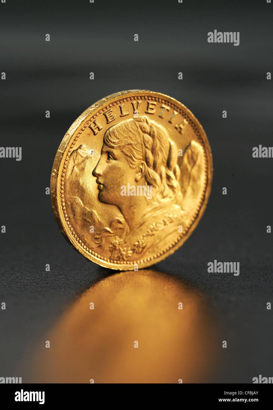Gold Bank Wertvoll Wert Gehäuse Goldvreneli Brillant Schweiz