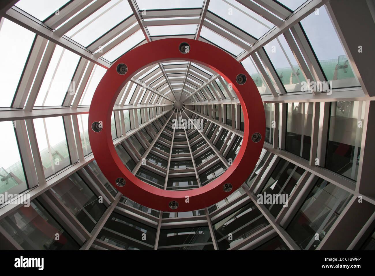 Tokyo, Japan, Asien, Stadt, National Art Center, Fassade, Eingang, Architektur, Kunst, Decke, Center, berühmte, Stockbild