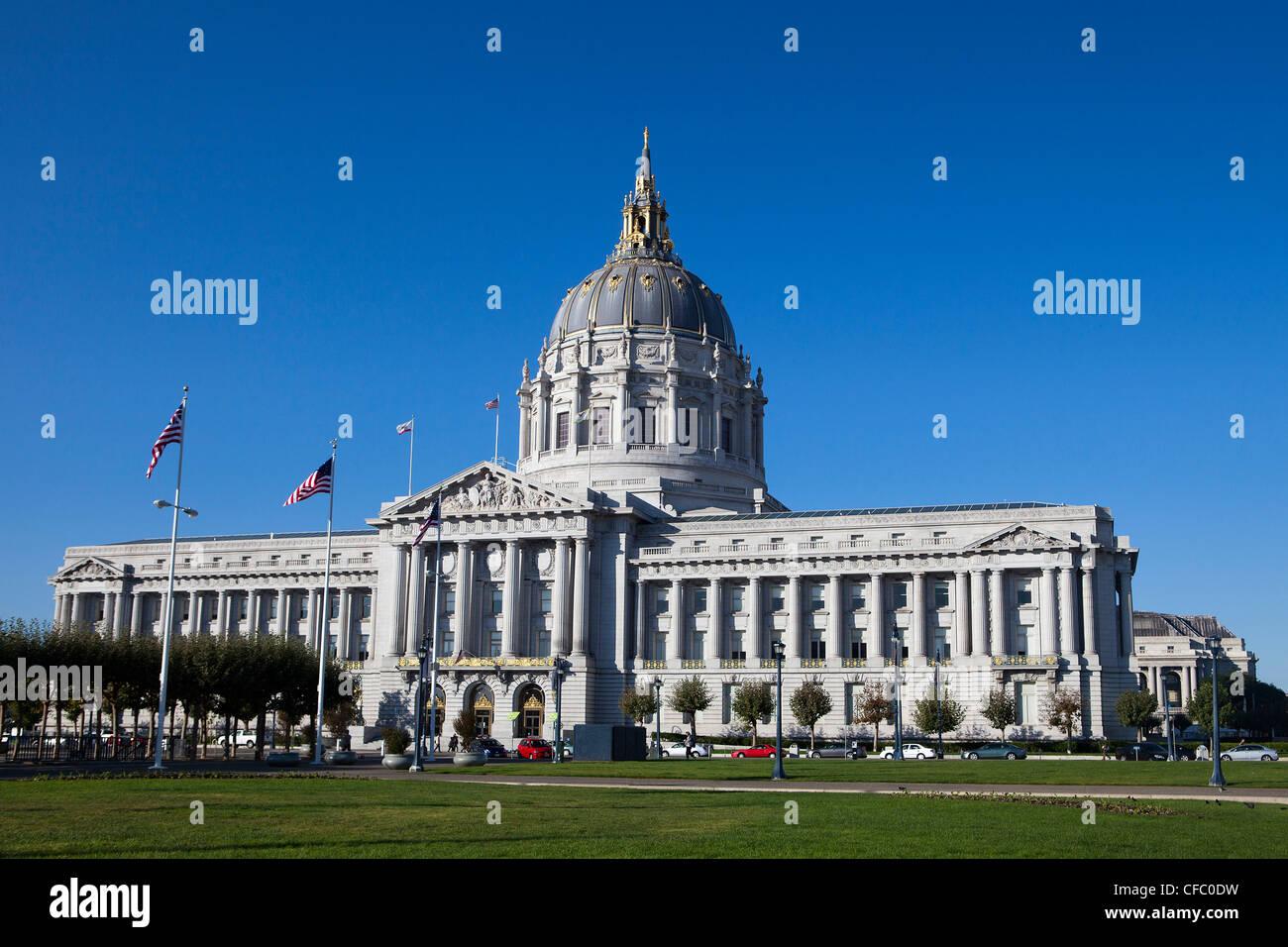 USA, USA, Amerika, Kalifornien, San Francisco, Stadt, Rathaus, Avenue, Rathaus, Clear, Kuppel, Regierung, m Stockfoto