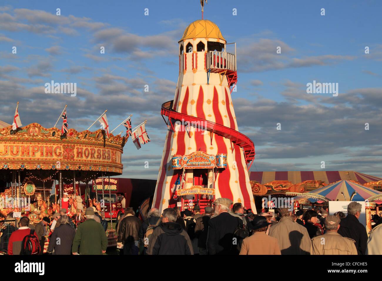 Kirmes beim Goodwood Revival 2011, Chichester, West Sussex, England, Großbritannien, Vereinigtes Königreich, Stockbild