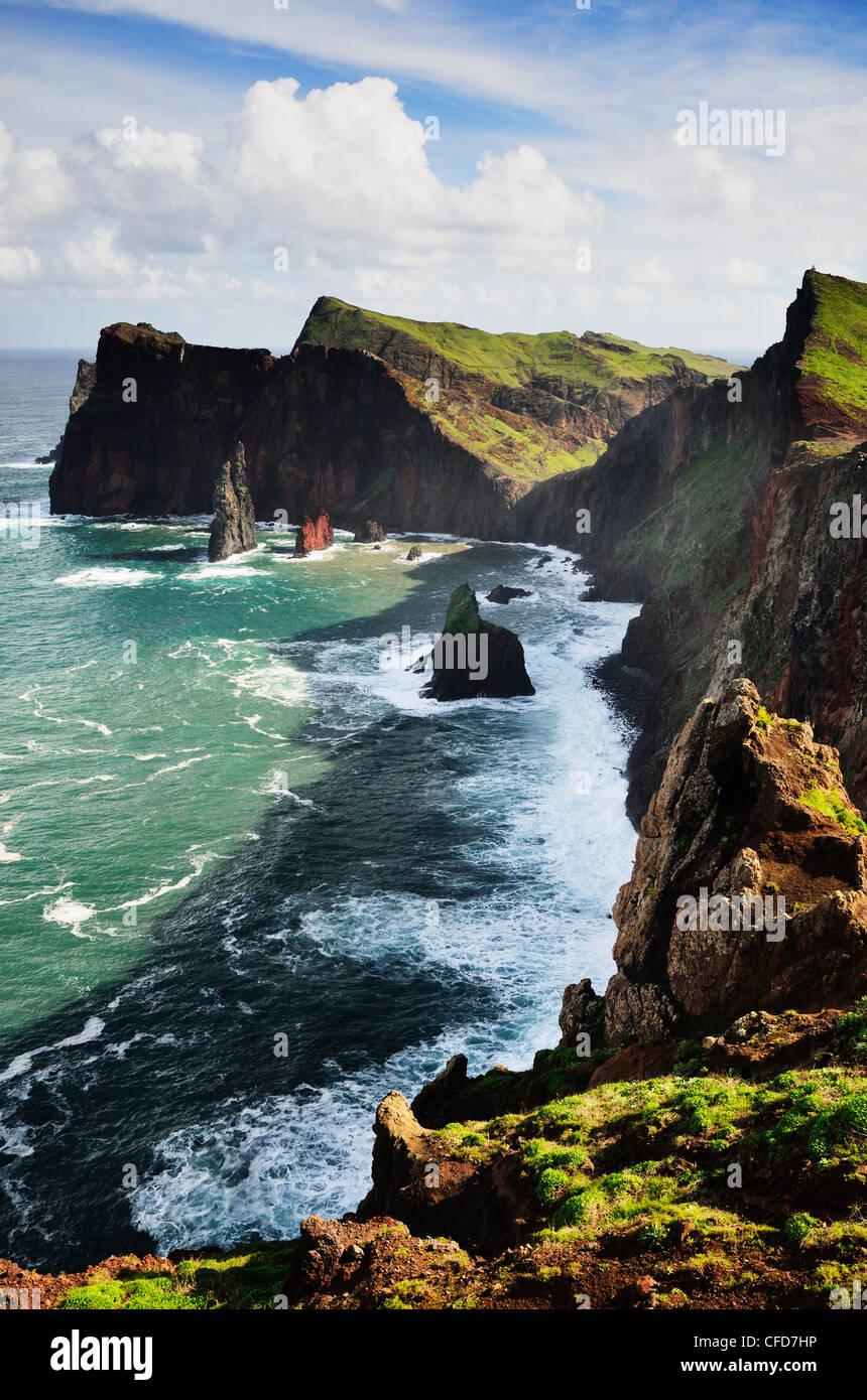 Ponta Castelo, Madeira, Portugal, Atlantik, Europa Stockbild