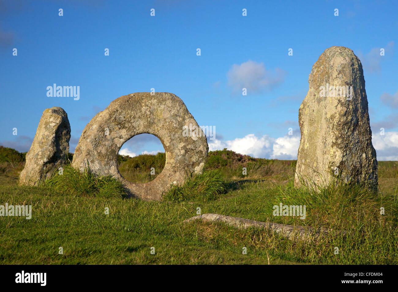 Männer-an-Tol, in der Nähe von Madron, Lands End Halbinsel, Cornwall, England, Vereinigtes Königreich, Stockbild