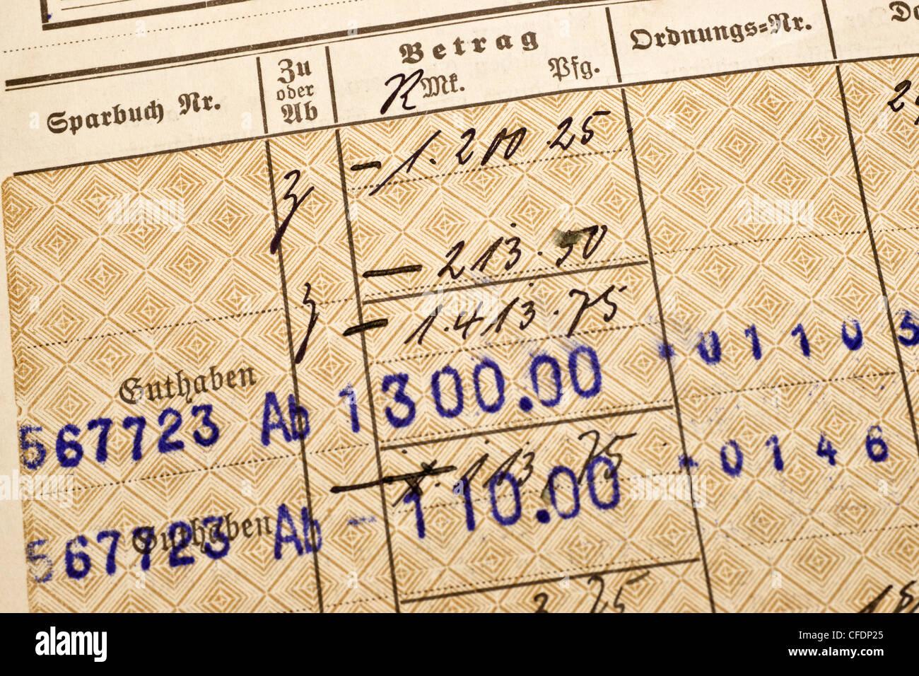 18dfa91a1328 Detailansicht Eines alten Sparbuches aus Dem Jahr 1927 | Detail-Foto ...