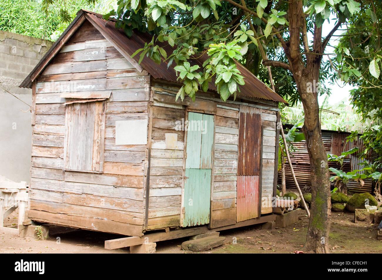 original karibischen stil schindeln haus zink dach corn island