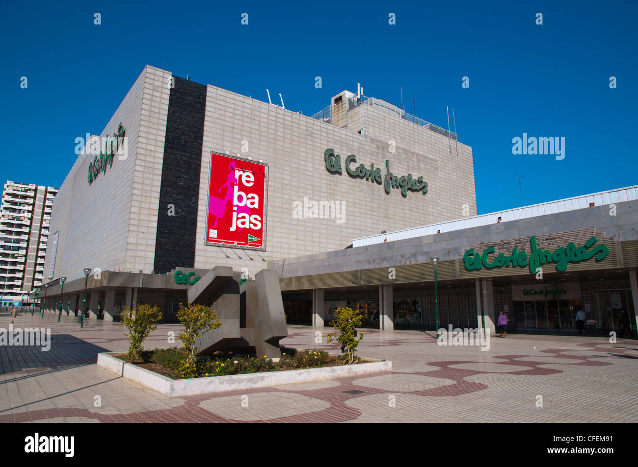 El Corte Ingles Kaufhaus Mitteleuropa Malaga Andalusien Spanien Stockbild