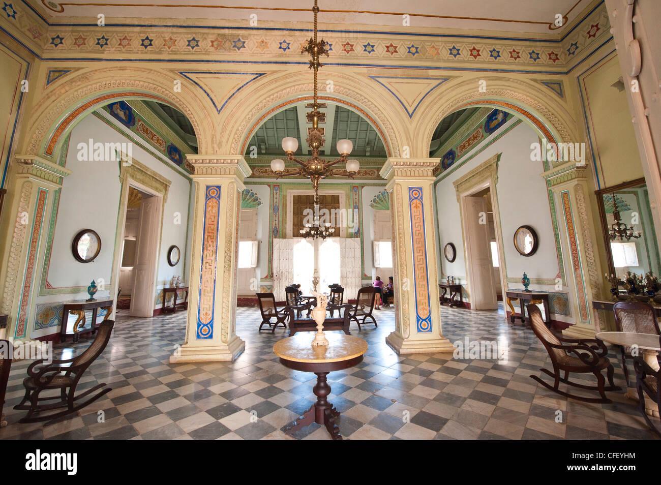 Innere des Palacio Brunet, Häuser, Museo Romantico, Trinidad, UNESCO ...