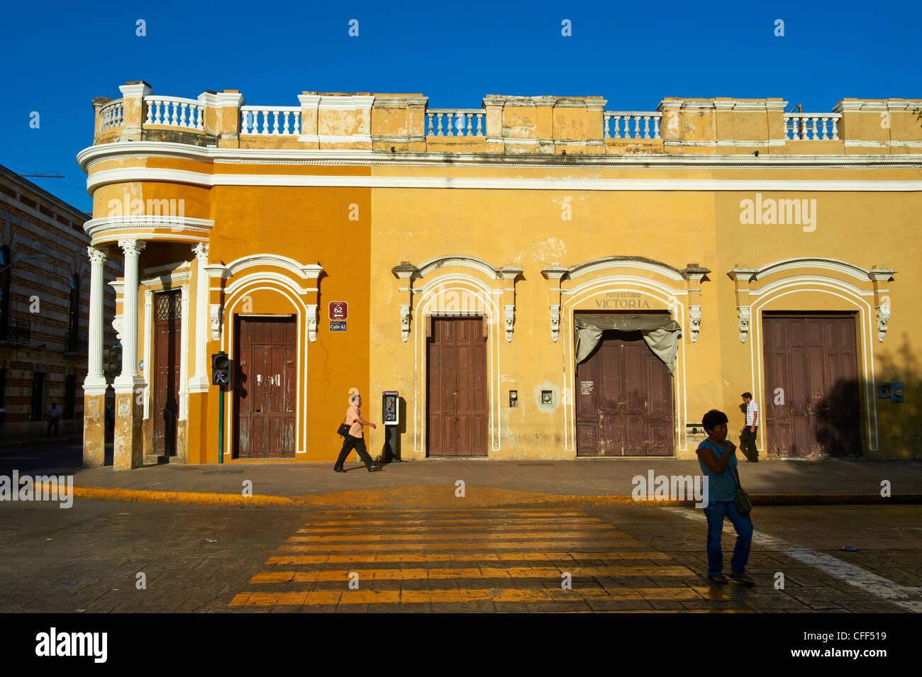 Platz der Unabhängigkeit, Merida, der Hauptstadt des Bundesstaates Yucatán, Mexiko, Stockbild