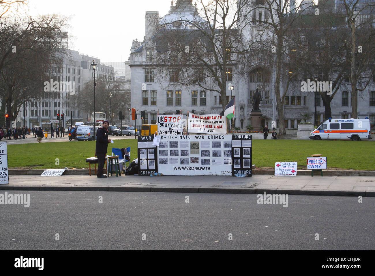 Demonstrant auf Parlament Square, London, England, UK Stockbild