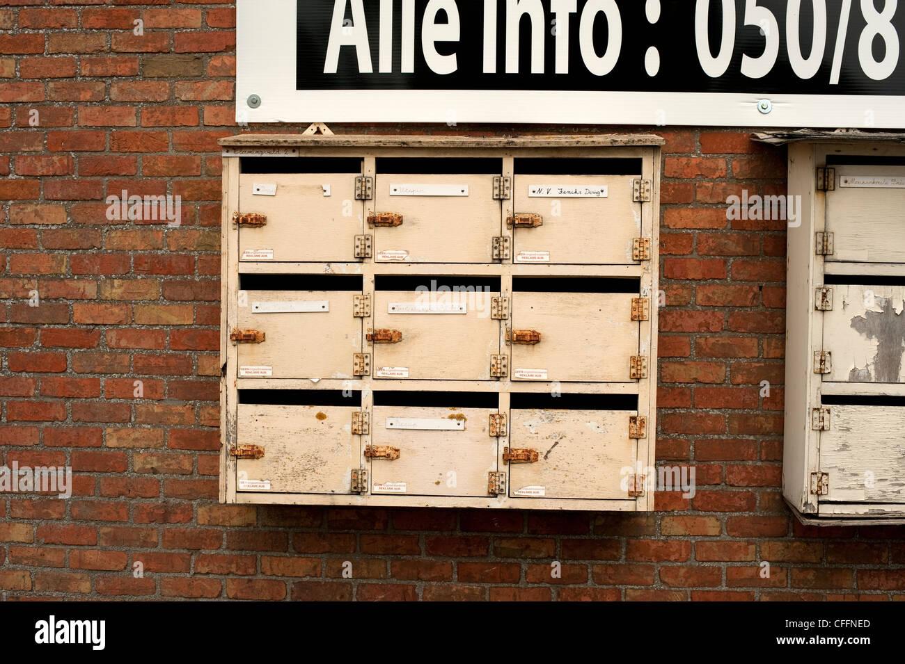 Post Brief Boxen Jabekke Belgien Europa Eu Stockfoto Bild 43986725