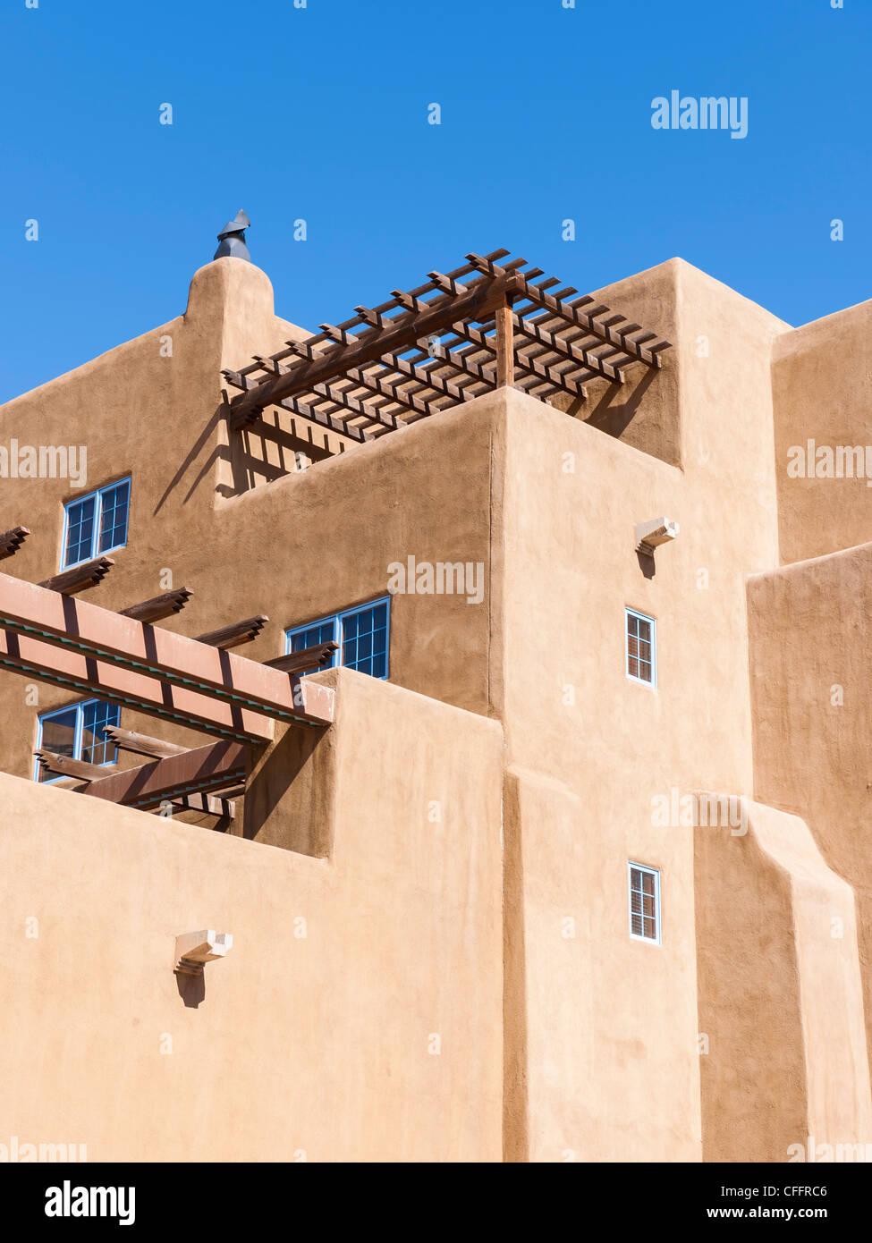 Pueblo-Revival-Architektur, Santa Fe Stockbild