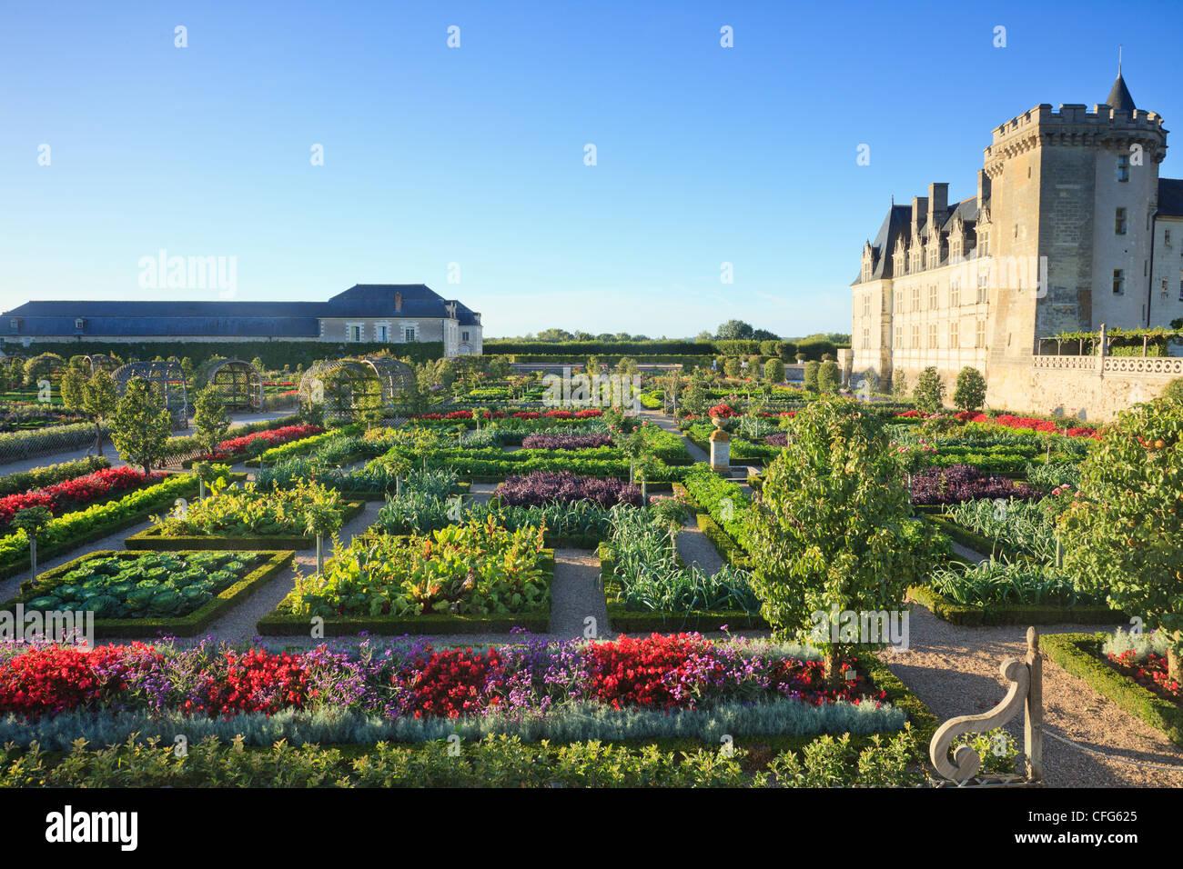 Frankreich, Gärten von Villandry Burg, der Küchengarten behandelt ...