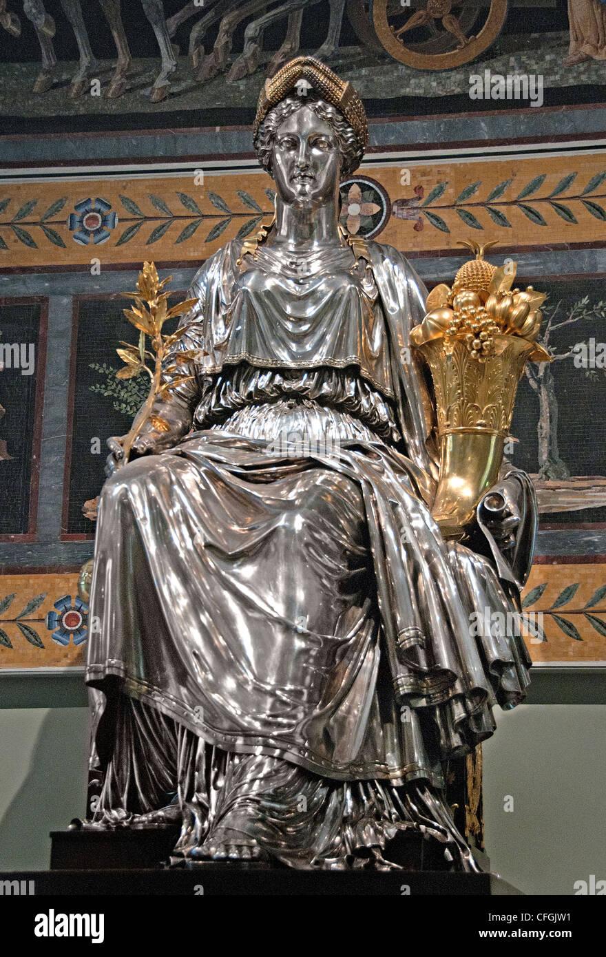 Das Genie des Kaisers, Kontrolle der Victoire, bringt Frieden und Überfluss von Francesco Belloni Frankreich Stockbild