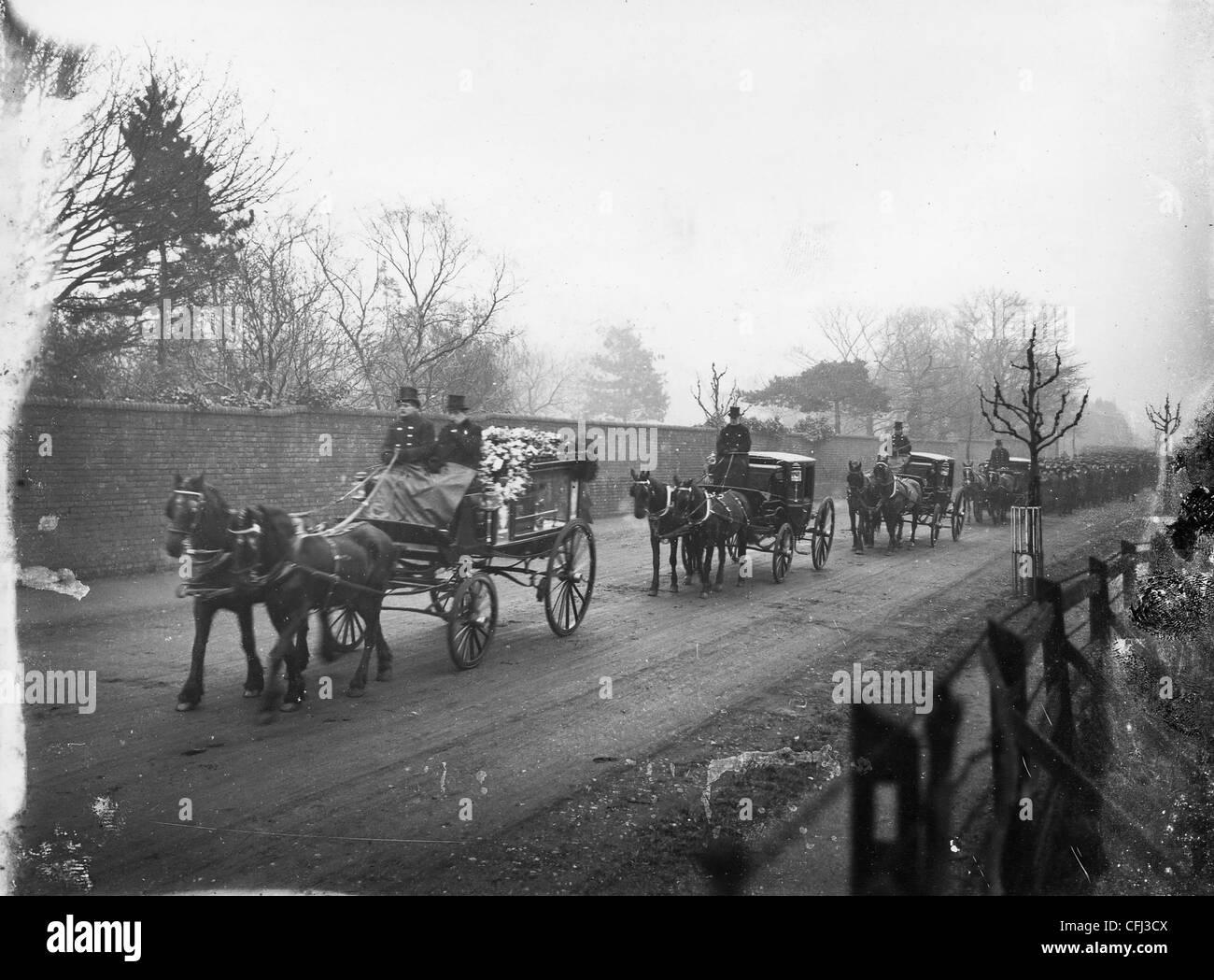 Beerdigung von industrieller, John Marston, Wolverhampton, 1918. Stockbild