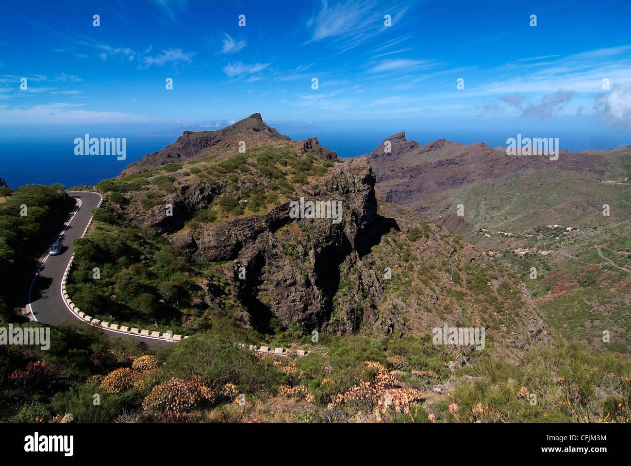 Masca, Teno-Gebirge, Teneriffa, Kanarische Inseln, Spanien, Europa Stockbild