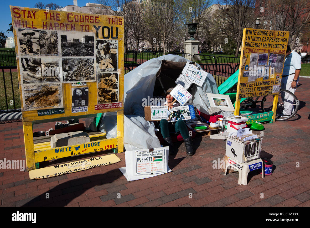Obdachlose Krieg Demonstranten in Washington, D.C. Stockbild