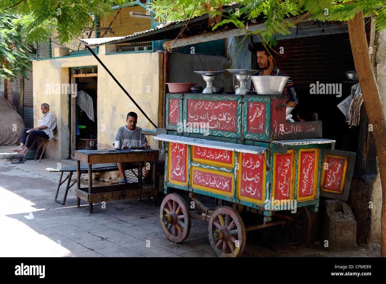 Kairo gypten blick auf mobile k che essen wagen kochen for Kuche aufmobeln