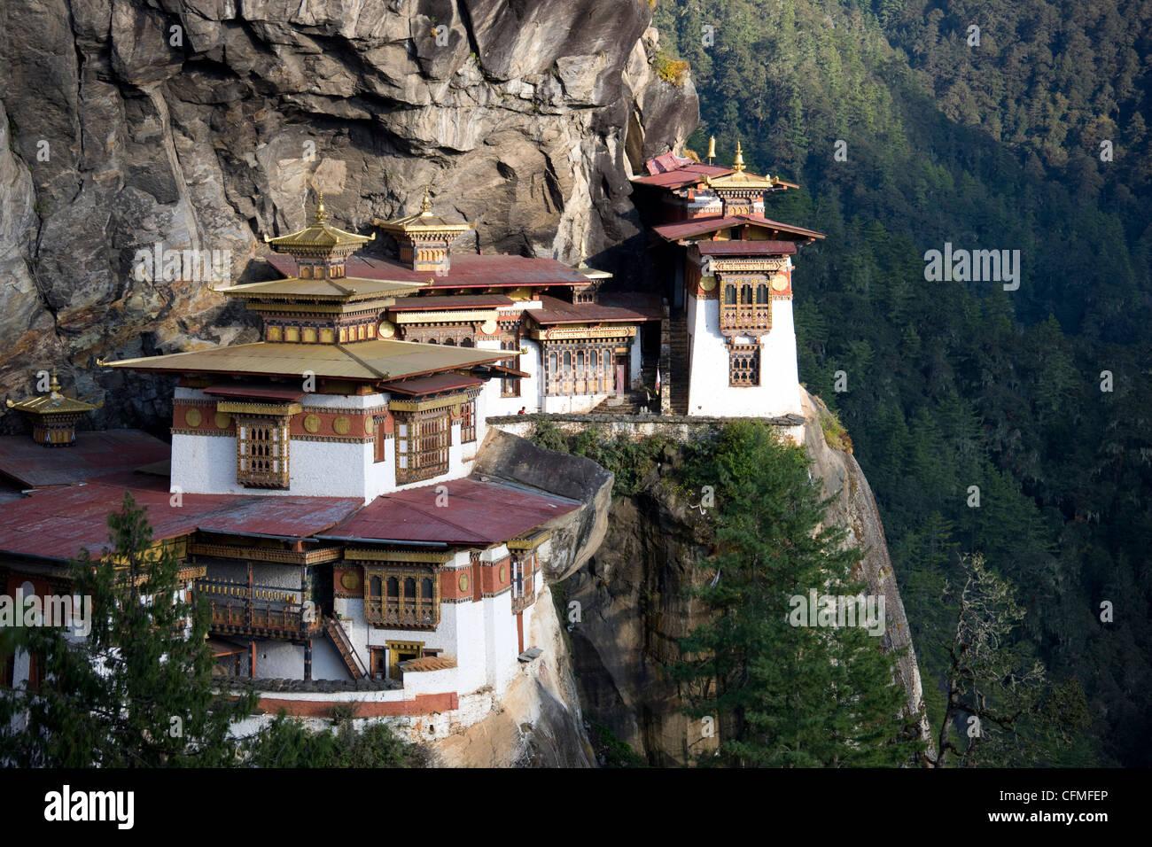 Taktshang Goemba (Tiger Nest Kloster), Paro-Tal, Bhutan, Asien Stockfoto