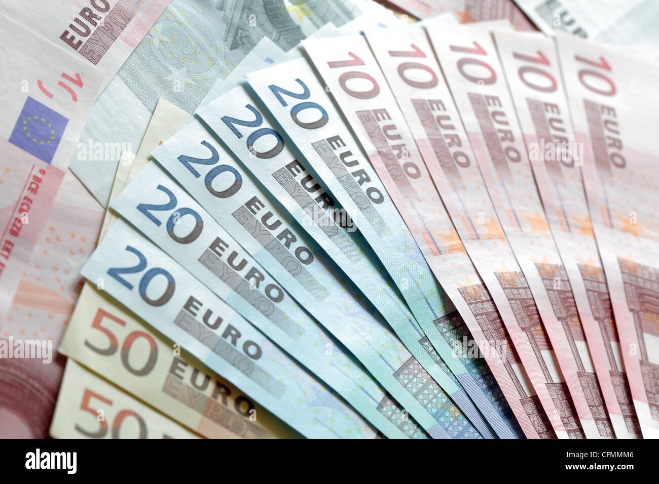 Europäische Währung Stockbild