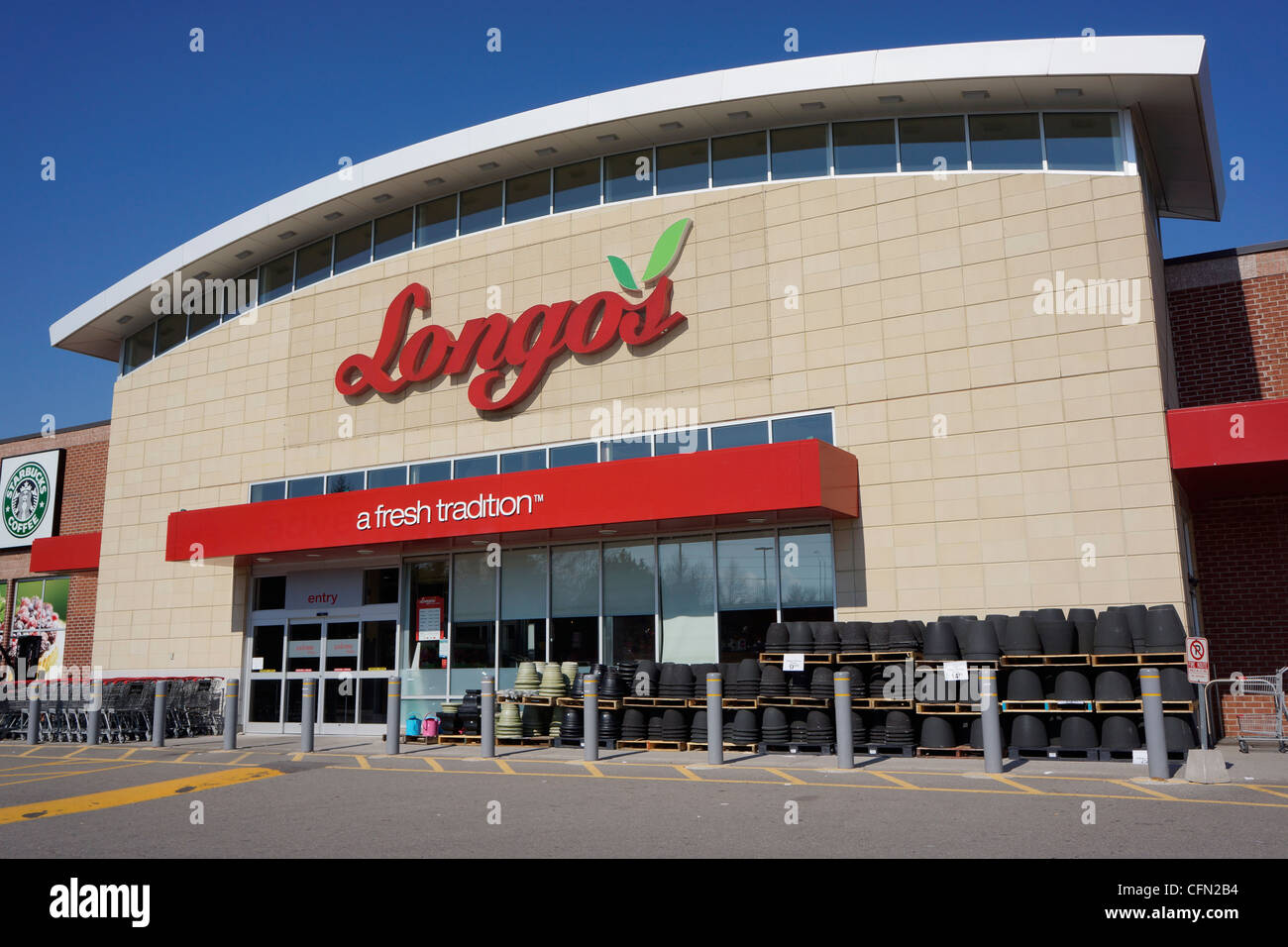 Longo, Lebensmittelgeschäft Stockbild