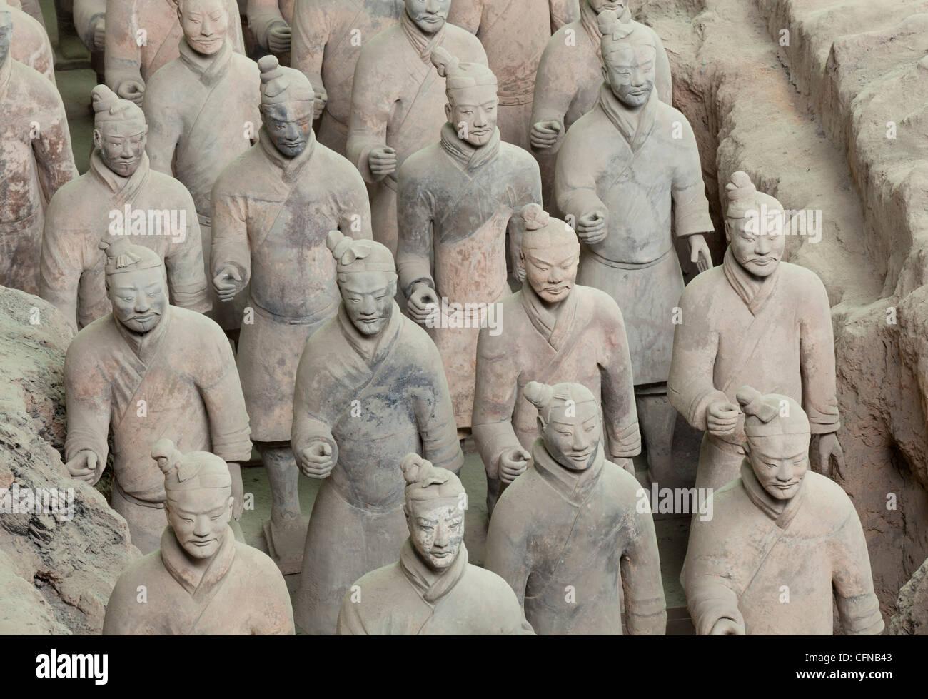 Terrakotta Krieger Armee, Grube Nummer 1, Xian, Provinz Shaanxi, China, Asien Stockfoto