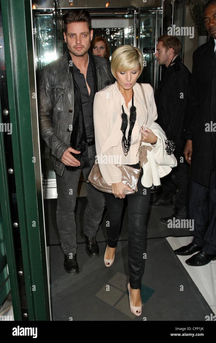 Boyzone Star Keith Duffy, Mit Seiner Frau Lisa Smith Feiern Valentinstag  Nacht Im Ivy Club. London, England   14.02.11