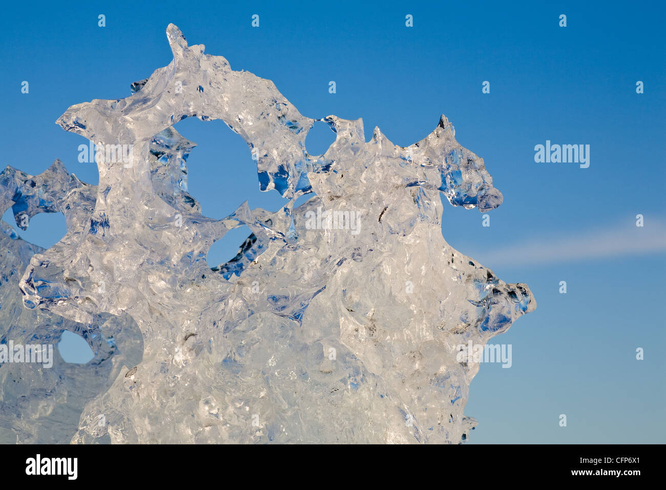 Eis, close-up Stockbild