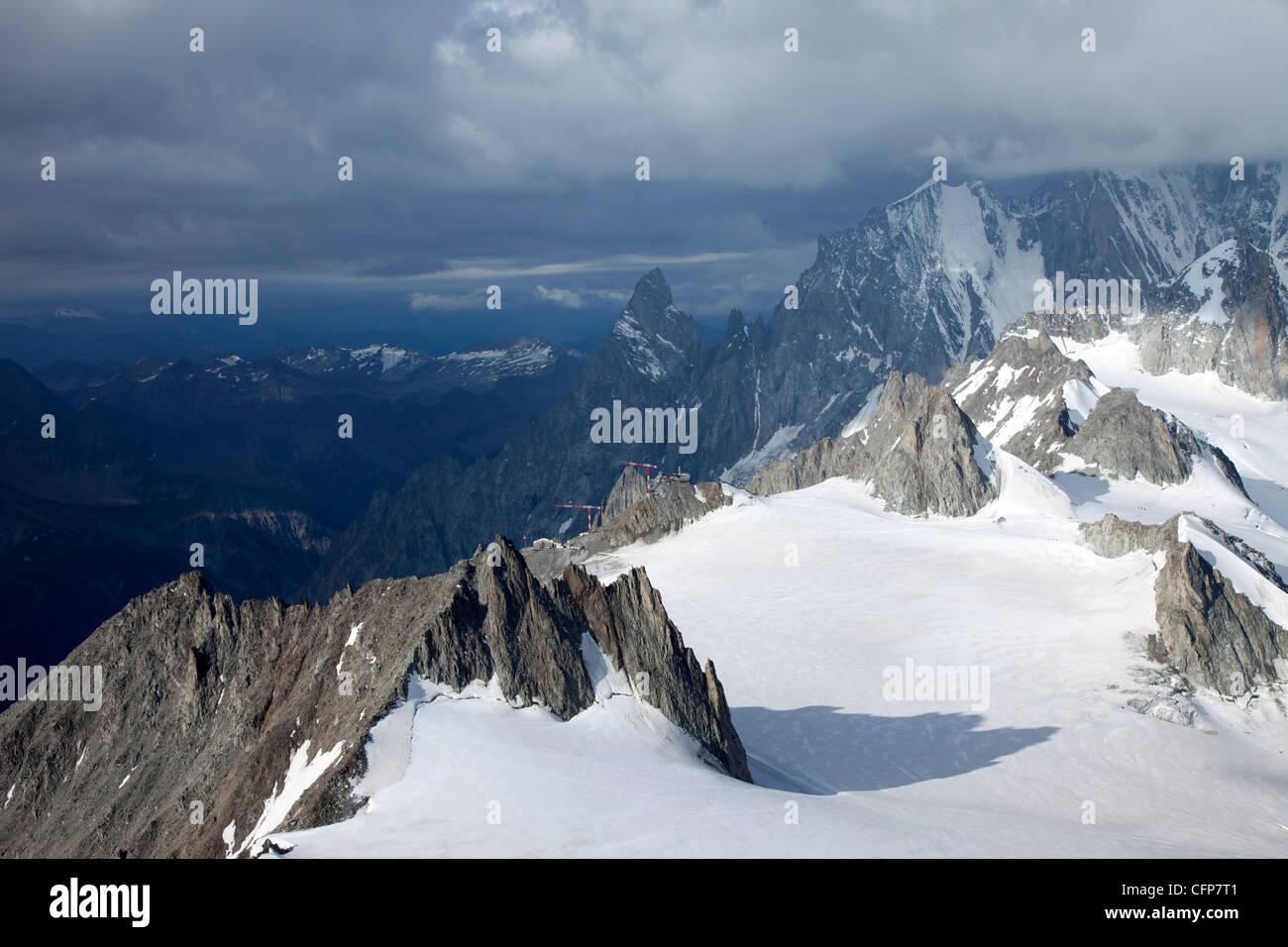 Mont-Blanc-Massiv, Courmayeur, Val d ' Aosta, Italien, Europa Stockbild