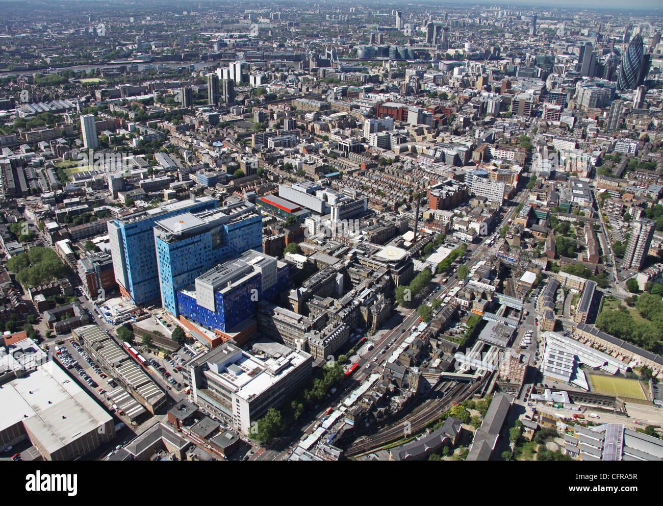 Luftaufnahme des The Royal London Hospital Stockbild