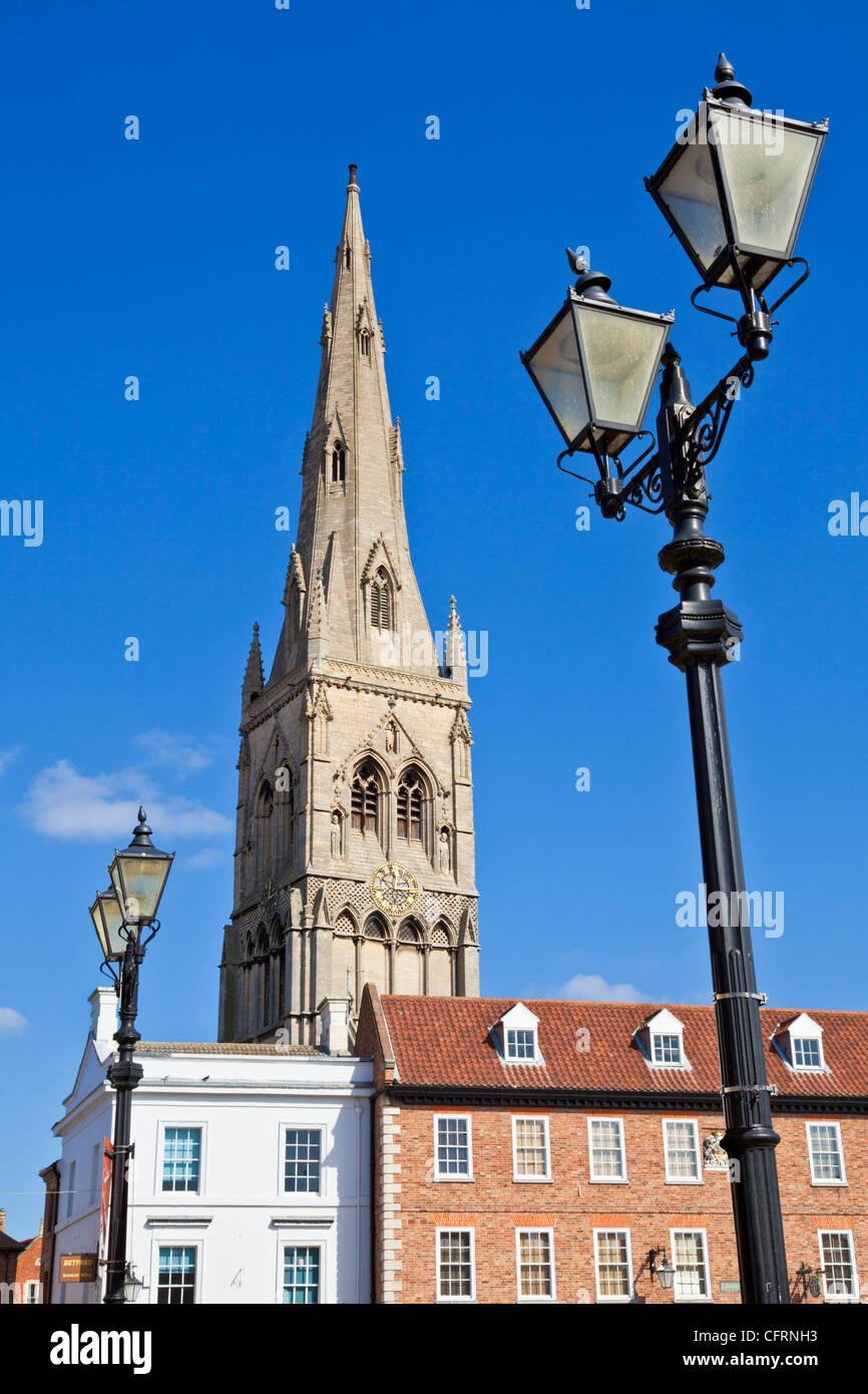 Turm der Kirche St. Maria Magadalene Newark-on-Trent, Nottinghamshire UK GB EU Europa Stockbild