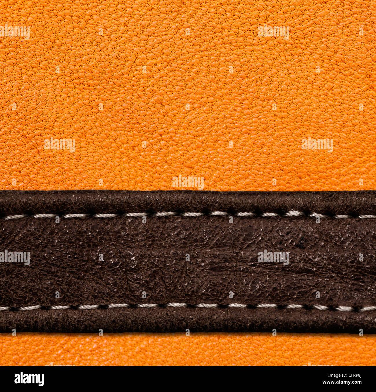 Eine braune und schwarze Leder-Textur. hohe Auflösung. Stockbild