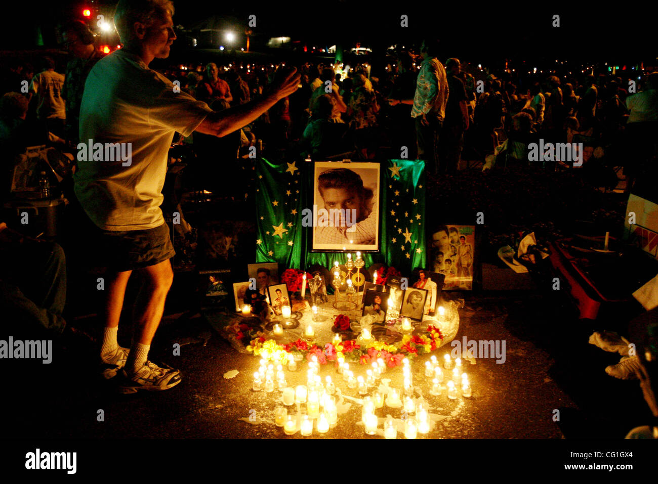 081507 traf Elvis 01 Personal Photo von Gary Coronado/The Palm Beach Post 0041321A mit Geschichte von Rachel Sauer Stockbild