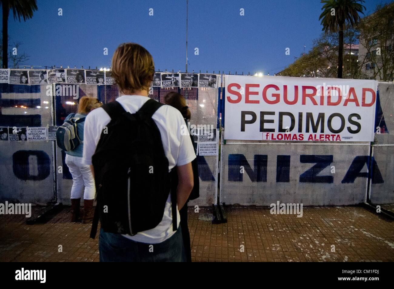 13. September 2012 - Buenos Aires, Buenos Aires, Argentinien - rund 50000 Menschen an einer '' Cacerolazo'' teilgenommen Stockfoto