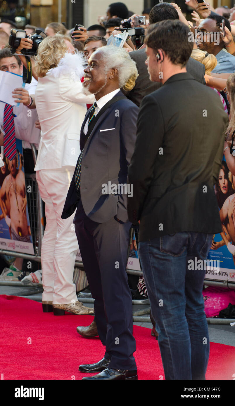 Billy Ocean bei Keith Lemon Film, Premiere Odeon Leicester Square in London Uk Montag, 20. August 2012. Stockbild